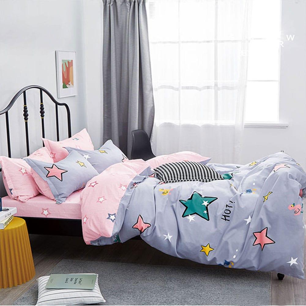 Σεντόνια Παιδικά Σετ 3τμχ 1312 Purple – Pink Homeline Μονό 170x260cm