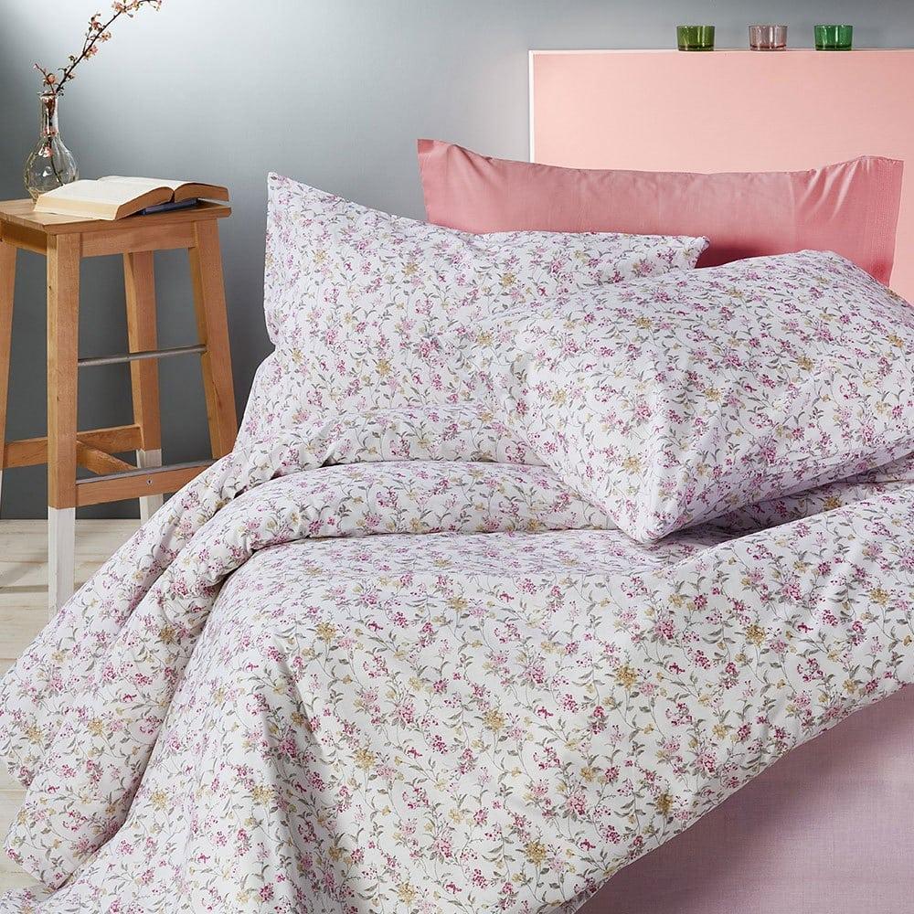 Σεντόνια Σετ 3τμχ Basic Ba51 2 Pink Whitegg Μονό 165x240cm