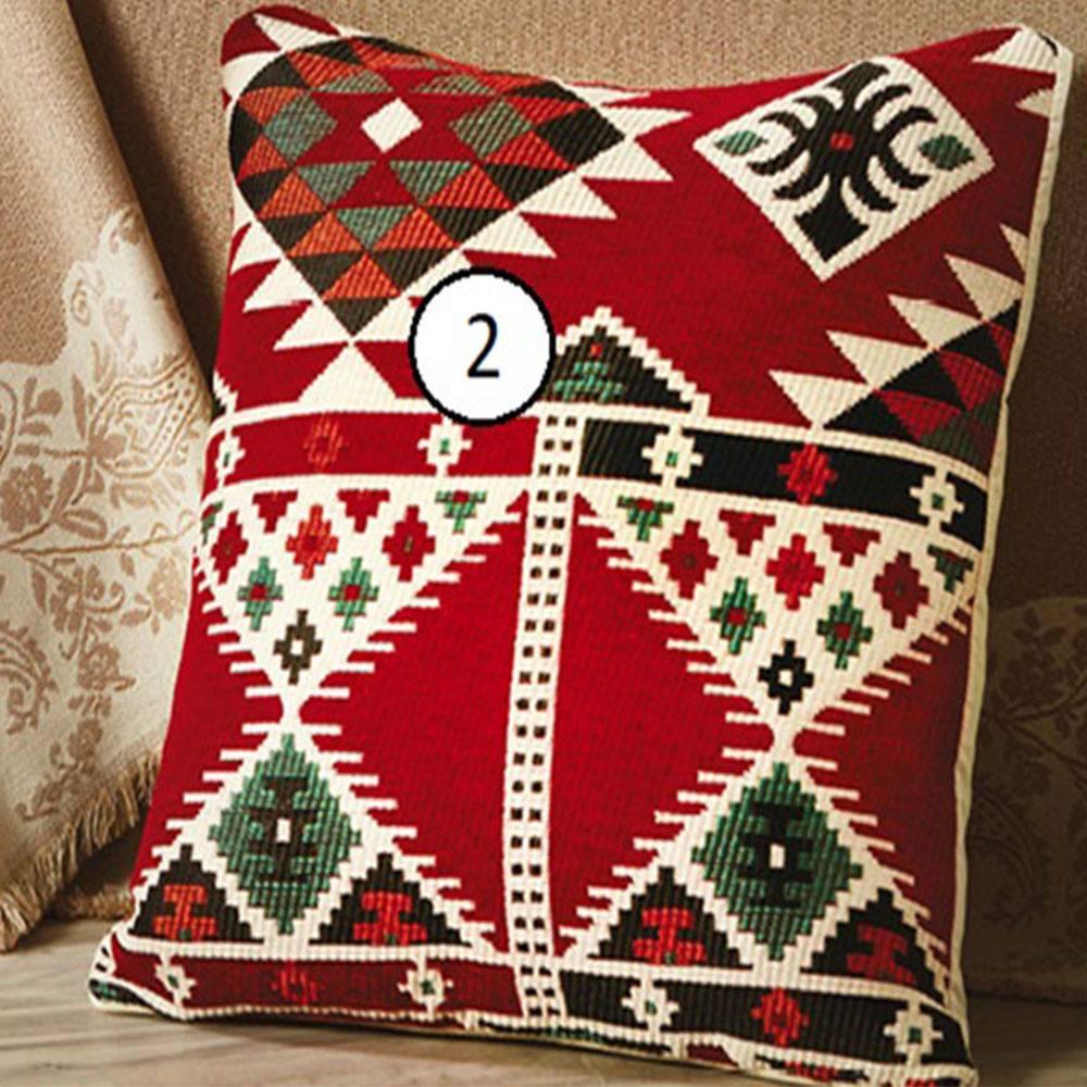 Διακοσμητική Μαξιλαροθήκη D002 No.2 Red Whitegg 45X45 100% Polyester