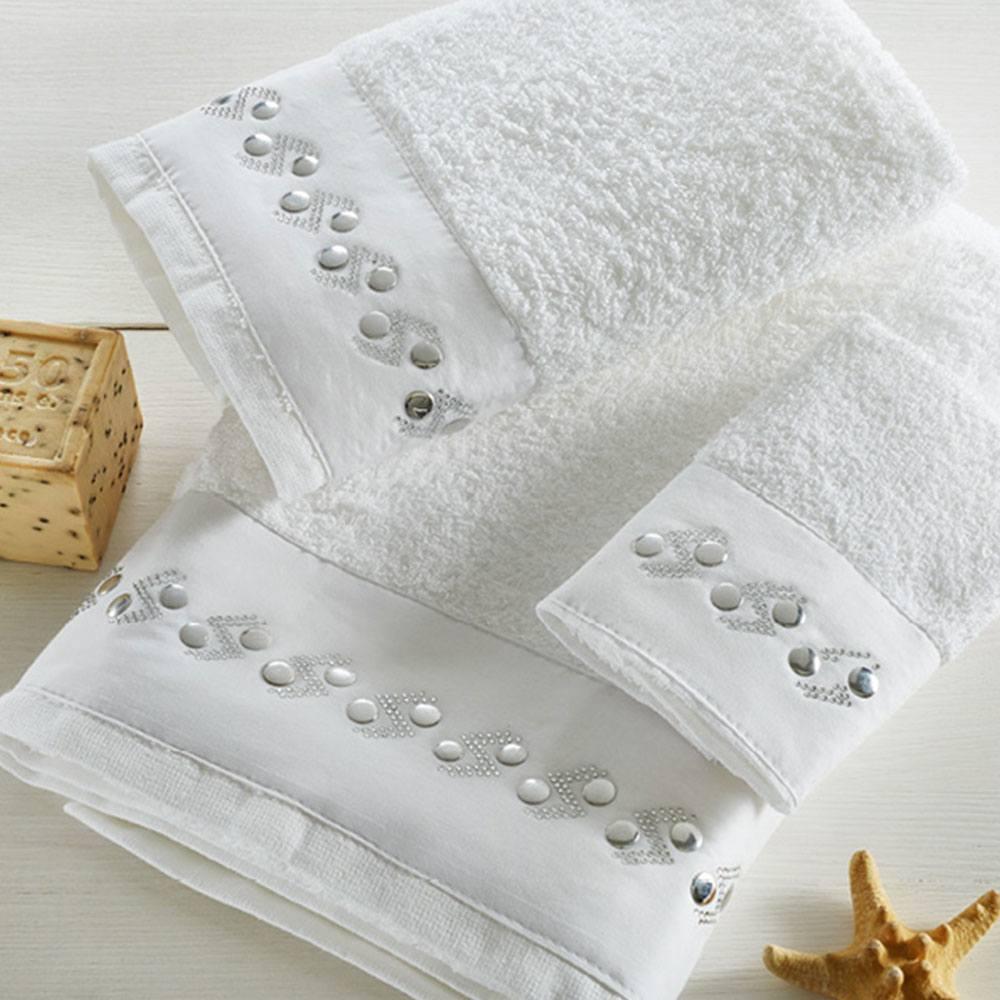 Πετσέτες Σετ 3τμχ P004 White Whitegg Σετ Πετσέτες 70x140cm