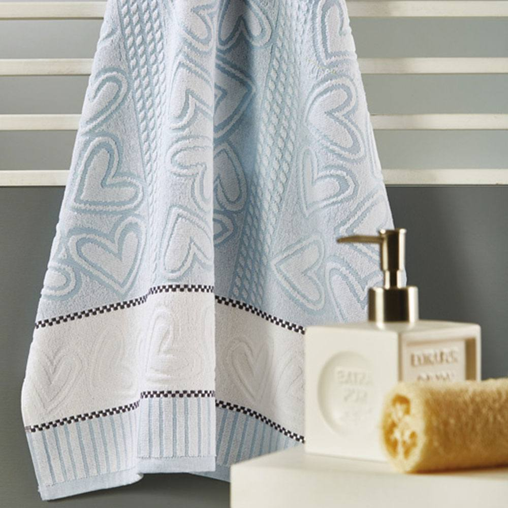 Πετσέτα P005 No.1 Blue Whitegg Προσώπου 50x90cm