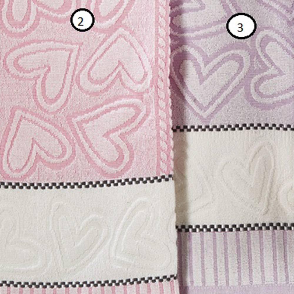 Πετσέτα P005 No.2 Pink Whitegg Προσώπου 50x90cm