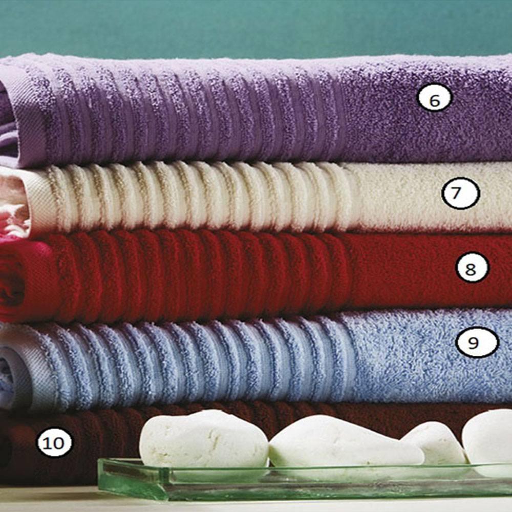 Πετσέτα Ρόζα T16 Νo.08 Red Whitegg Προσώπου 50x100cm