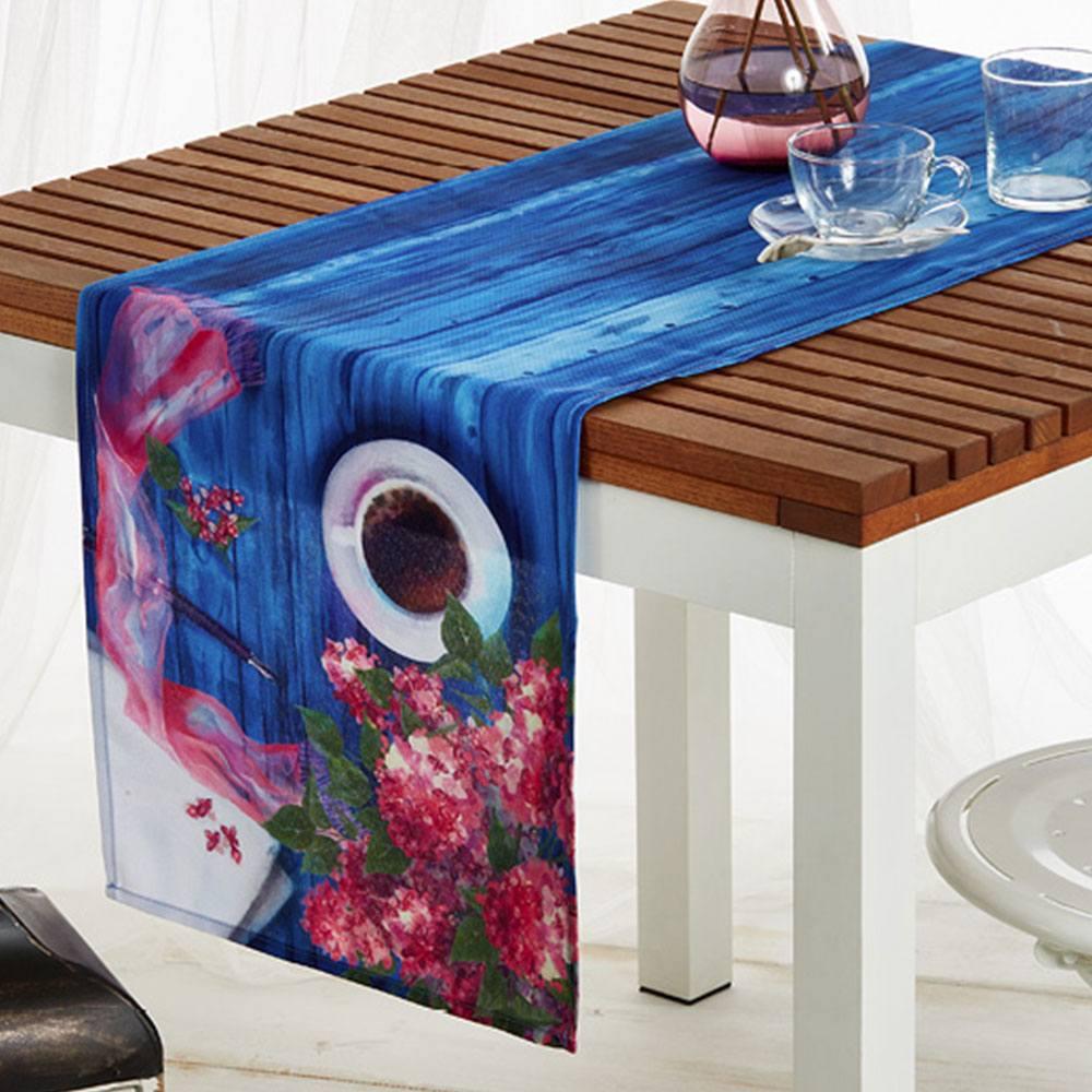 Τραβέρσα 907 3D Blue Whitegg 40Χ150 40x160cm