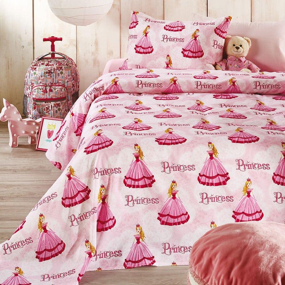 Σεντόνια Παιδικά Σετ 3τμχ Princess C004 Pink Whitegg Μονό 160x240cm