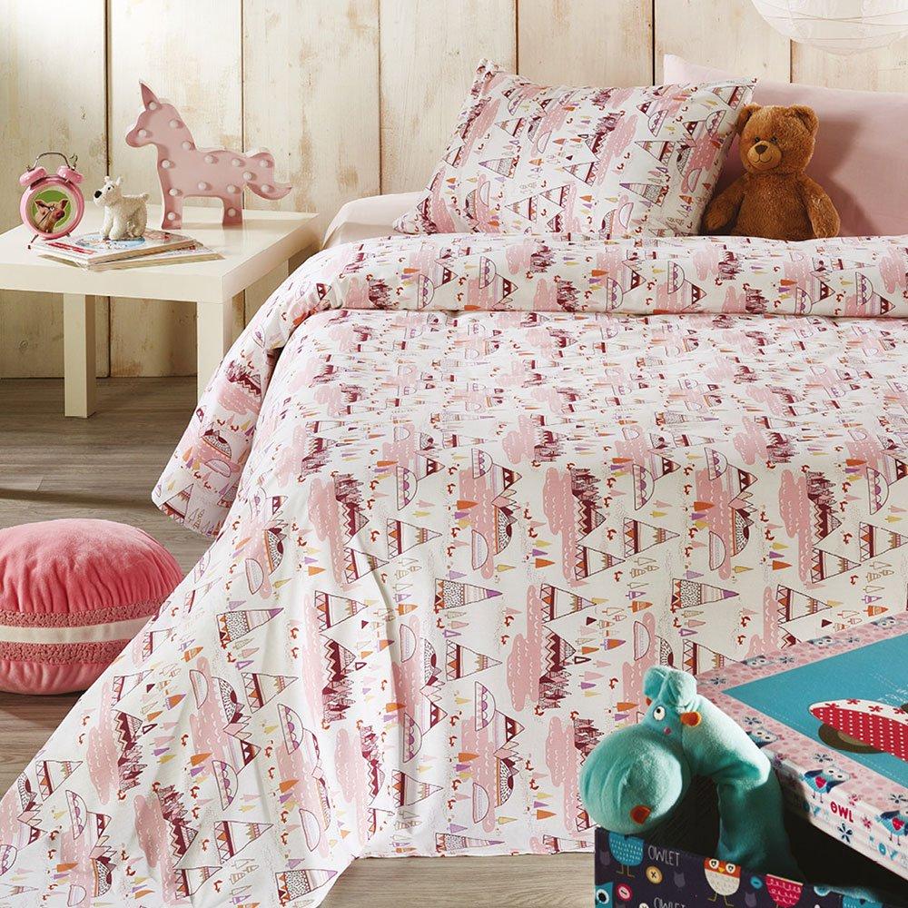 Σεντόνια Παιδικά Σετ 3τμχ C010 No.2 Pink Whitegg Μονό 160x240cm