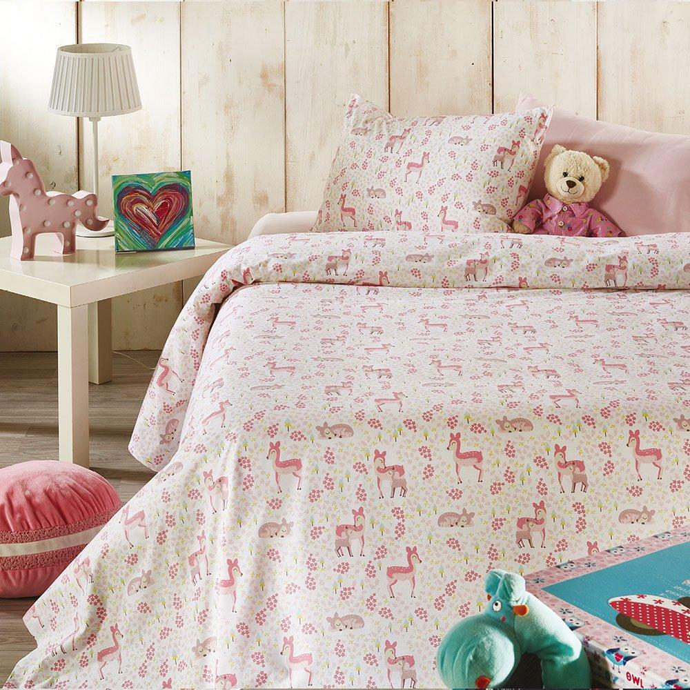 Σεντόνια Παιδικά Σετ 3τμχ C011 No.2 Pink Whitegg Μονό 160x240cm