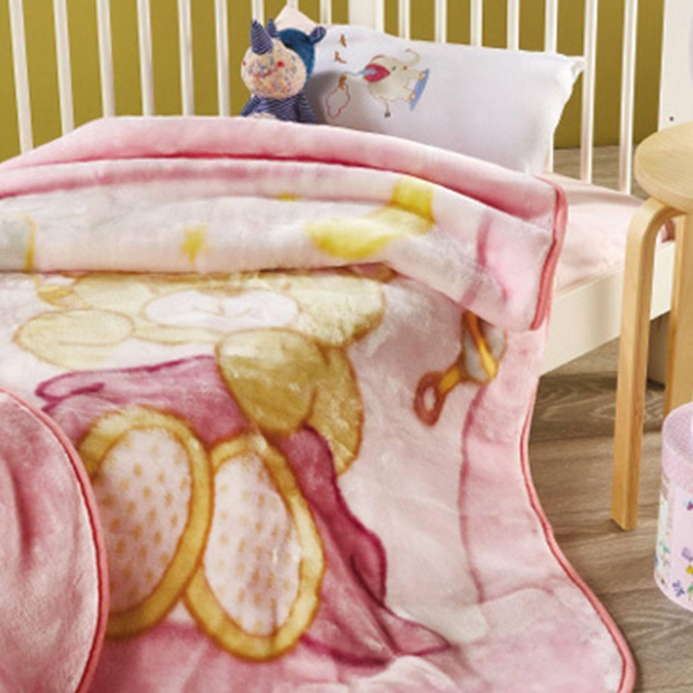 Κουβέρτα Βρεφική KB052 Νo.2 Pink Whitegg Κούνιας 110x140cm