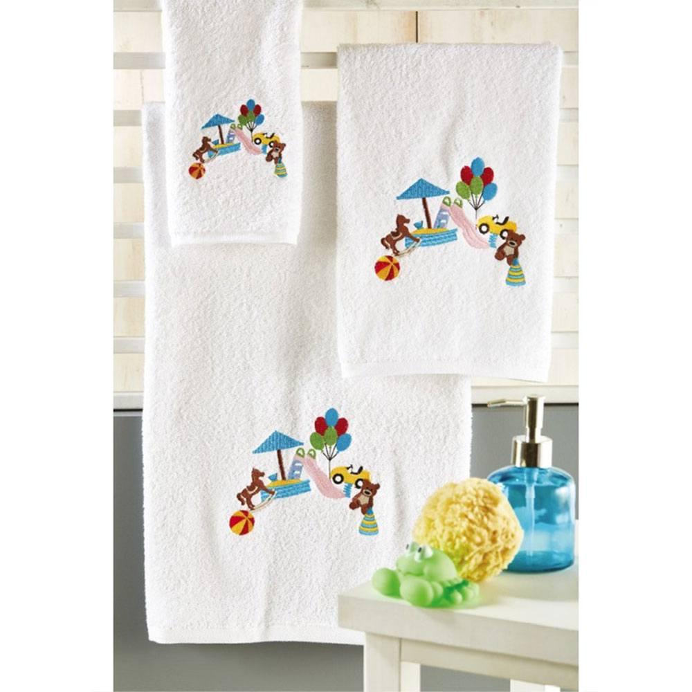 Πετσέτες Βρεφικές Σετ 3τμχ P020 Multi Whitegg Σετ Πετσέτες 50x90cm
