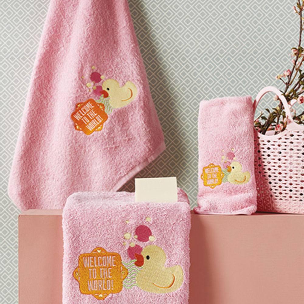 Πετσέτες Βρεφικές Σετ 3τμχ SP26 1 Pink Whitegg Σετ Πετσέτες 50x90cm