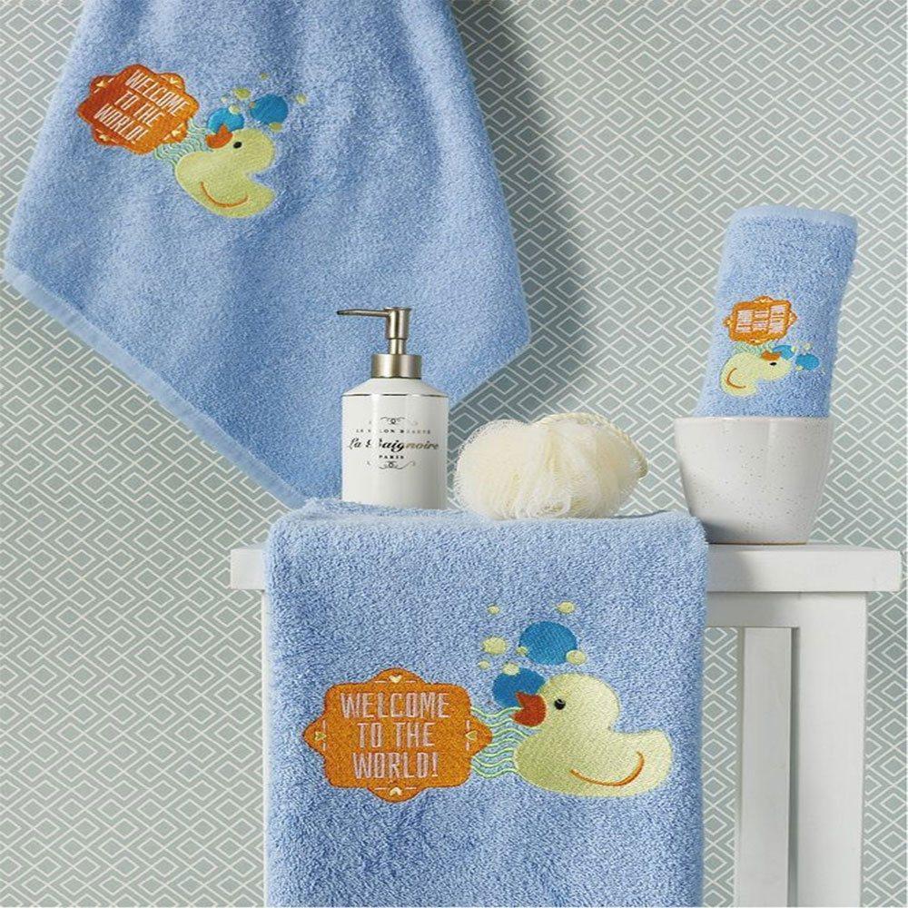 Πετσέτες Βρεφικές Σετ 2τμχ SP26 2 Blue Whitegg Σετ Πετσέτες 50x90cm