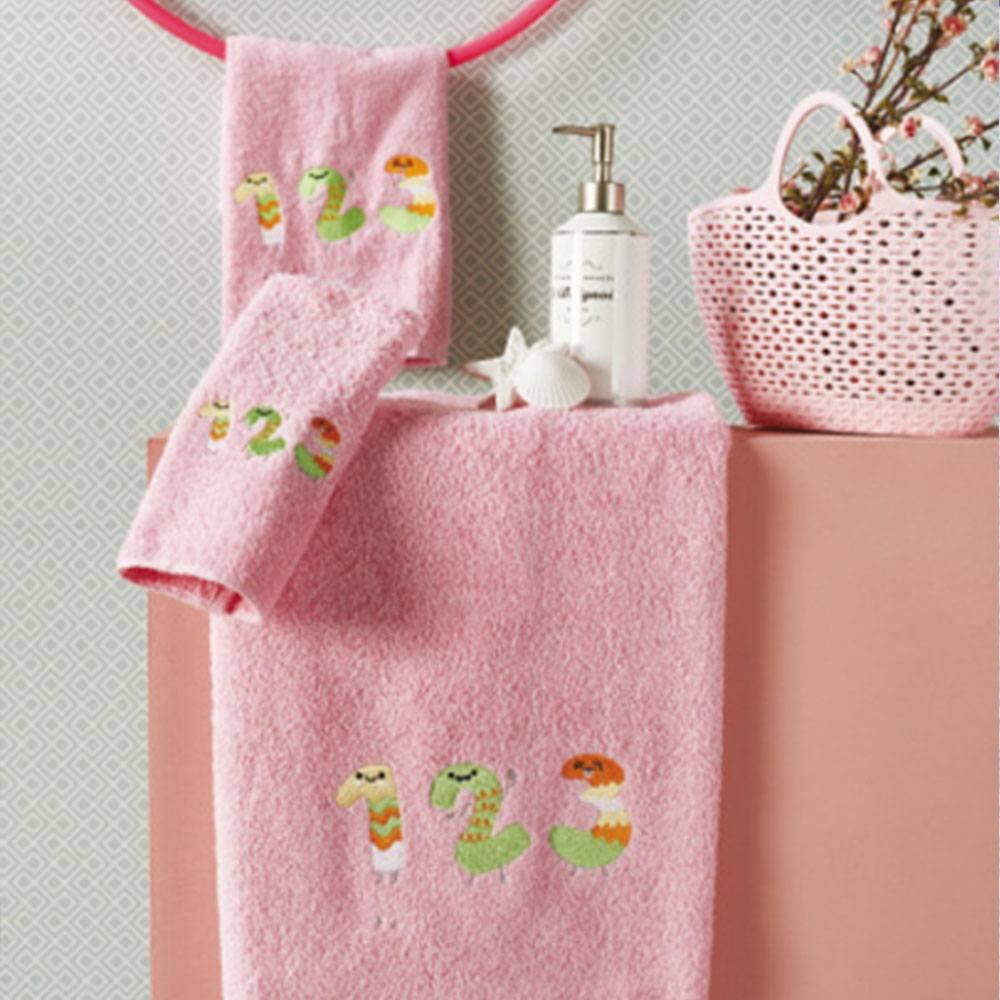 Πετσέτες Βρεφικές Σετ 3τμχ SP16 1 Pink Whitegg Σετ Πετσέτες 50x90cm