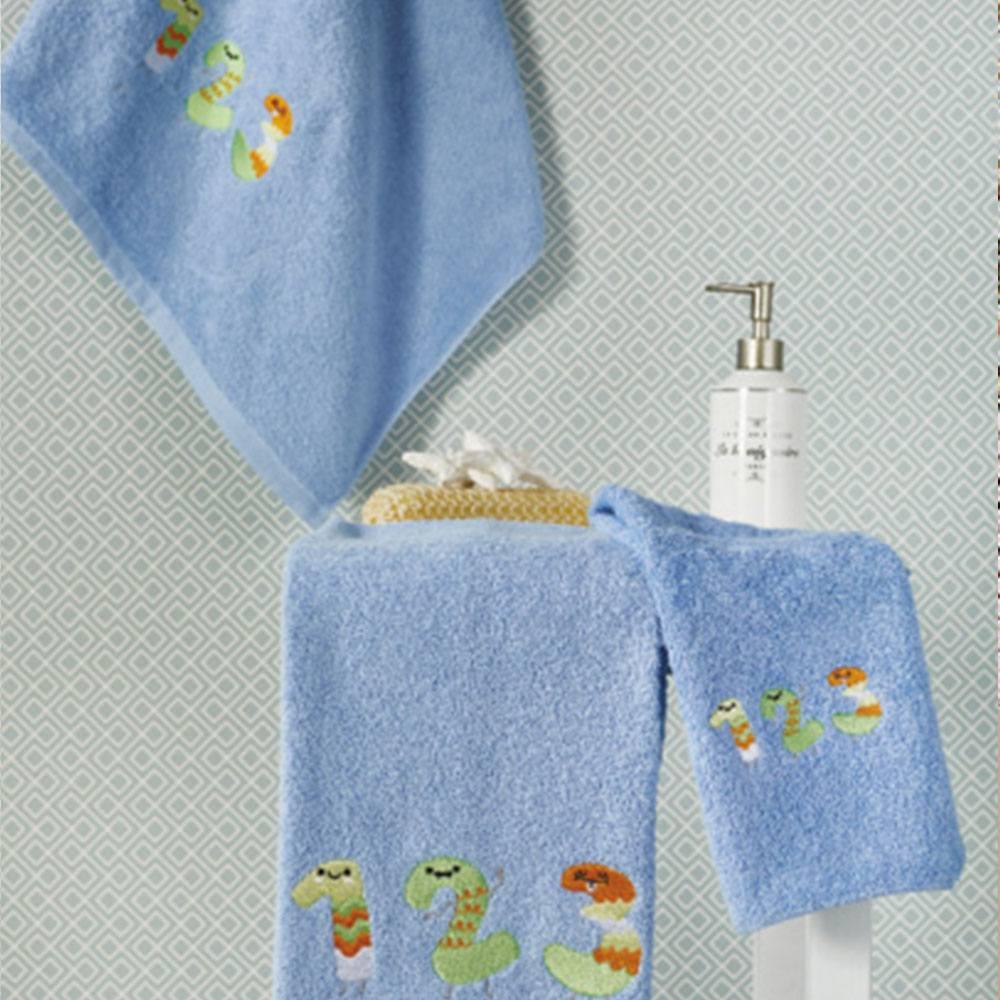 Πετσέτες Βρεφικές Σετ 3τμχ SP16 2 Blue Whitegg Σετ Πετσέτες 50x90cm