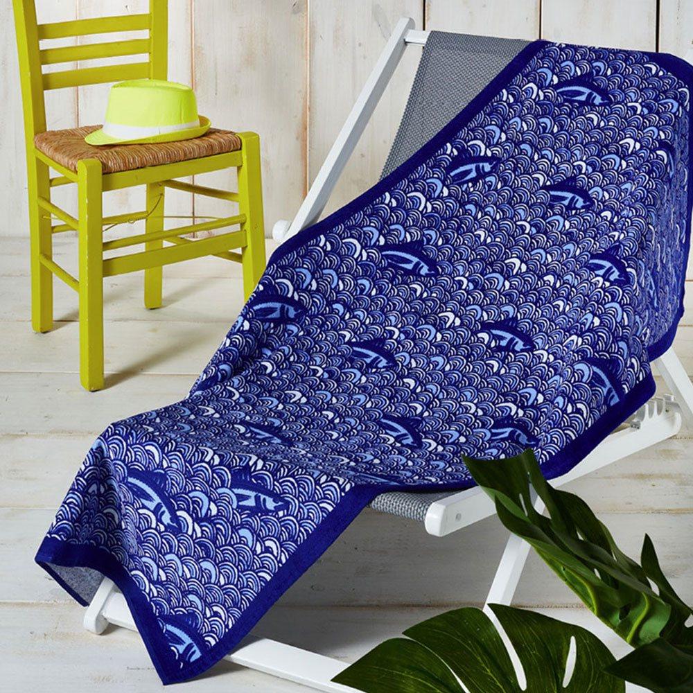 Πετσέτα Θαλάσσης Θ36 Blue Whitegg Θαλάσσης 75x140cm