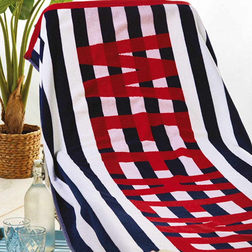 Πετσέτα Θαλάσσης S015 No.1 Dark Blue Whitegg Θαλάσσης 90x170cm