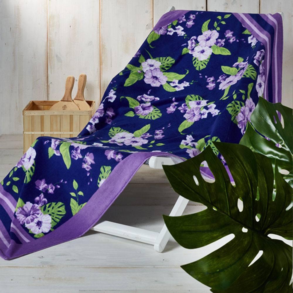 Πετσέτα Θαλάσσης ΤΗ12 Purple Whitegg Θαλάσσης 90x160cm
