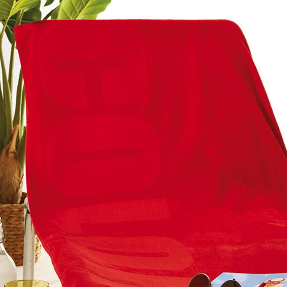 Πετσέτα Θαλάσσης S020 No.2 Red Whitegg Θαλάσσης 90x170cm
