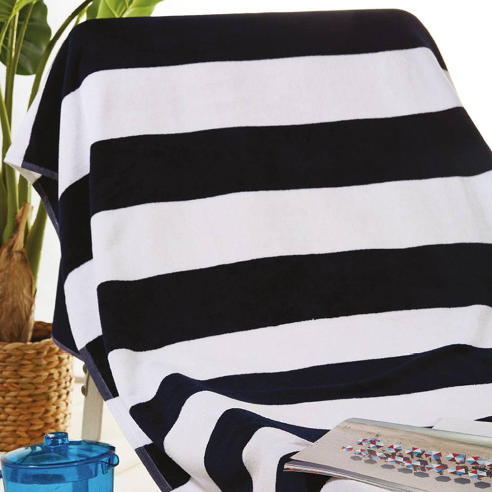 Πετσέτα Θαλάσσης S021 White-Black Whitegg Θαλάσσης 90x170cm