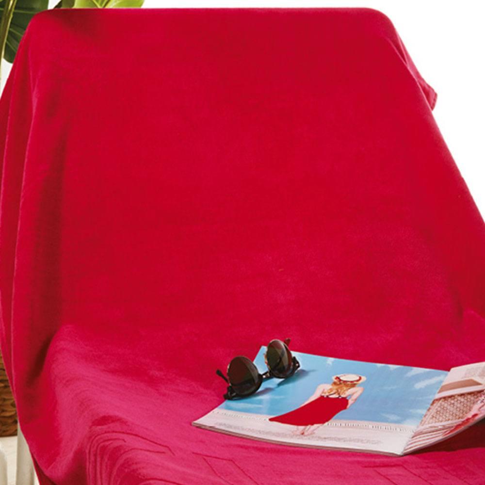 Πετσέτα Θαλάσσης S022A Red Whitegg Θαλάσσης 90x170cm