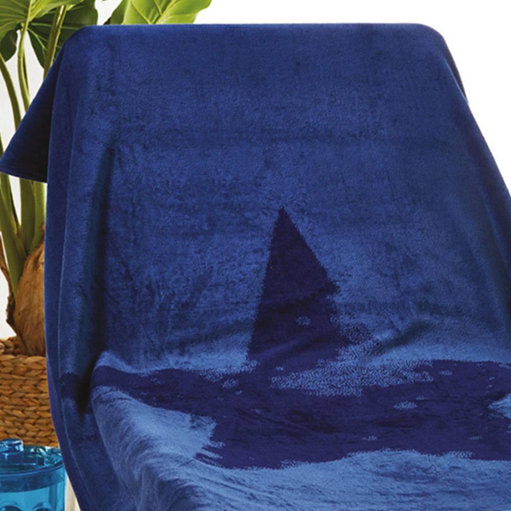 Πετσέτα Θαλάσσης S025 Dark Blue Whitegg Θαλάσσης 90x170cm