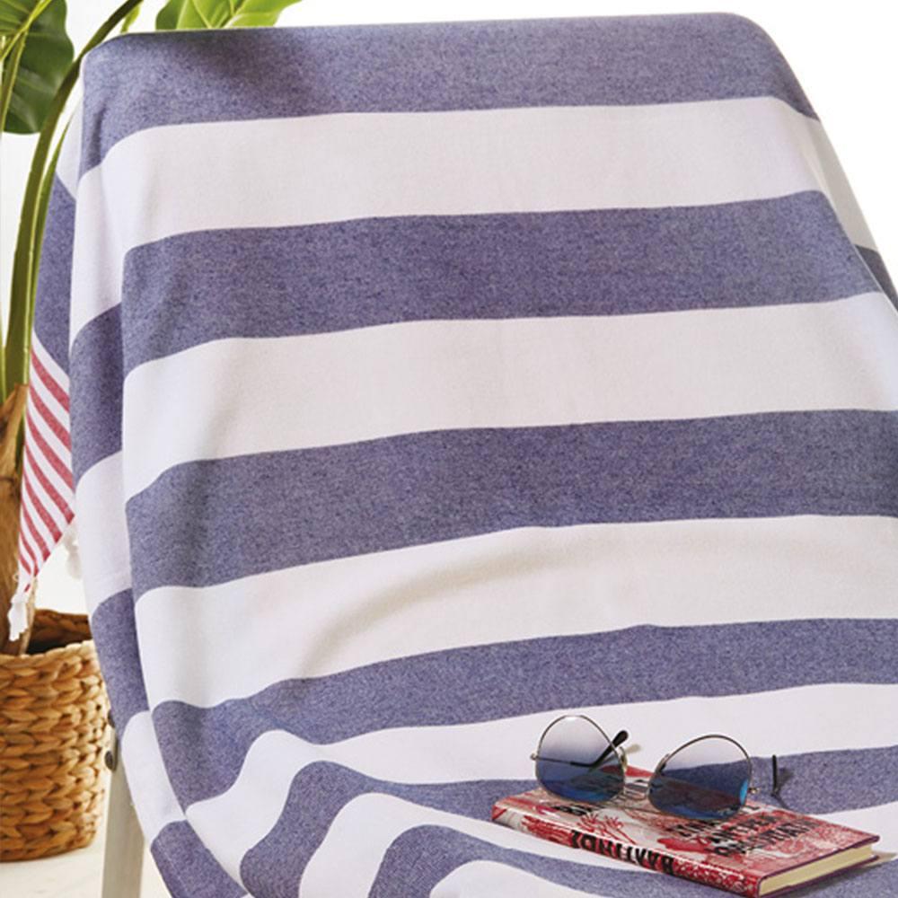 Πετσέτα Θαλάσσης – Παρεό Πεσταμάλ S026 White-Blue Whitegg Θαλάσσης 90x160cm