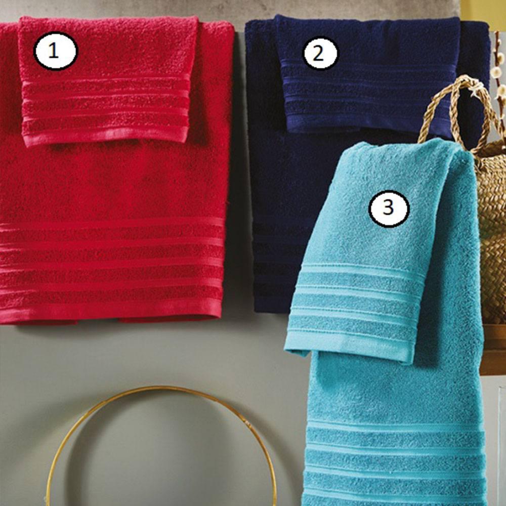 Πετσέτα Of014 1 Red Whitegg Προσώπου 50x90cm
