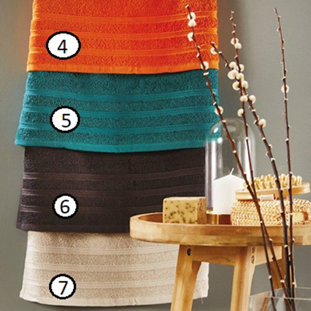 Πετσέτα Of014 6 Dark Brown Whitegg Προσώπου 50x90cm