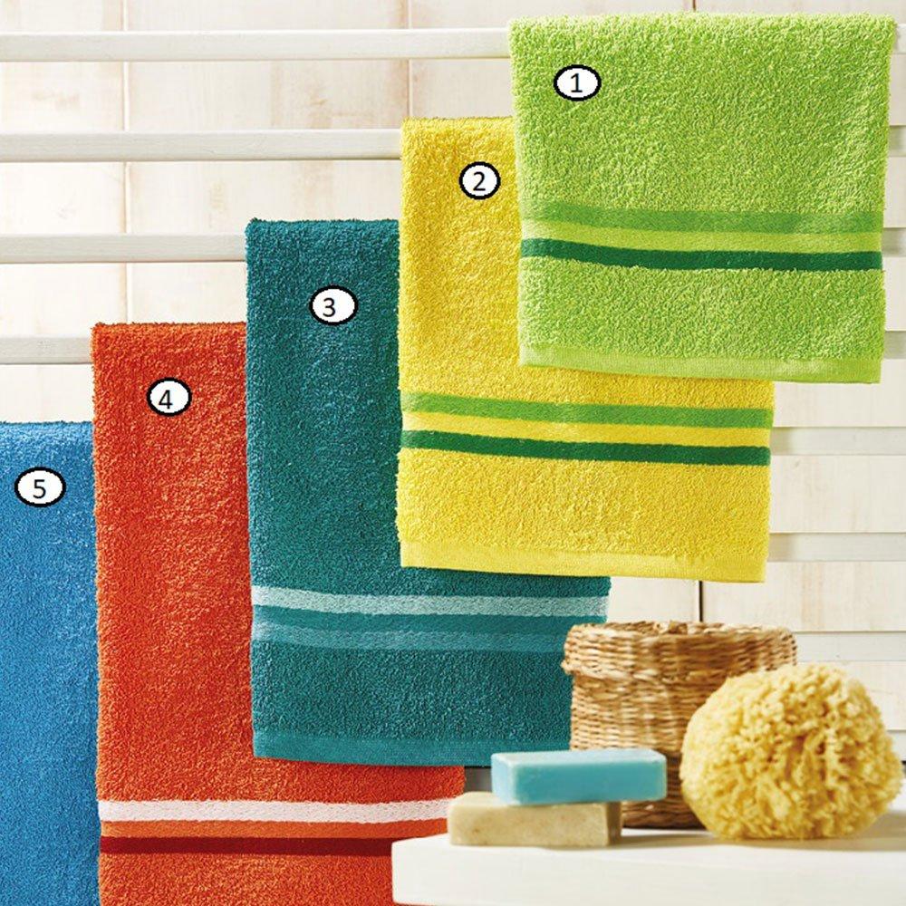 Πετσέτες Σετ 2τμχ Of016 4 Orange Whitegg Σετ Πετσέτες 50x90cm