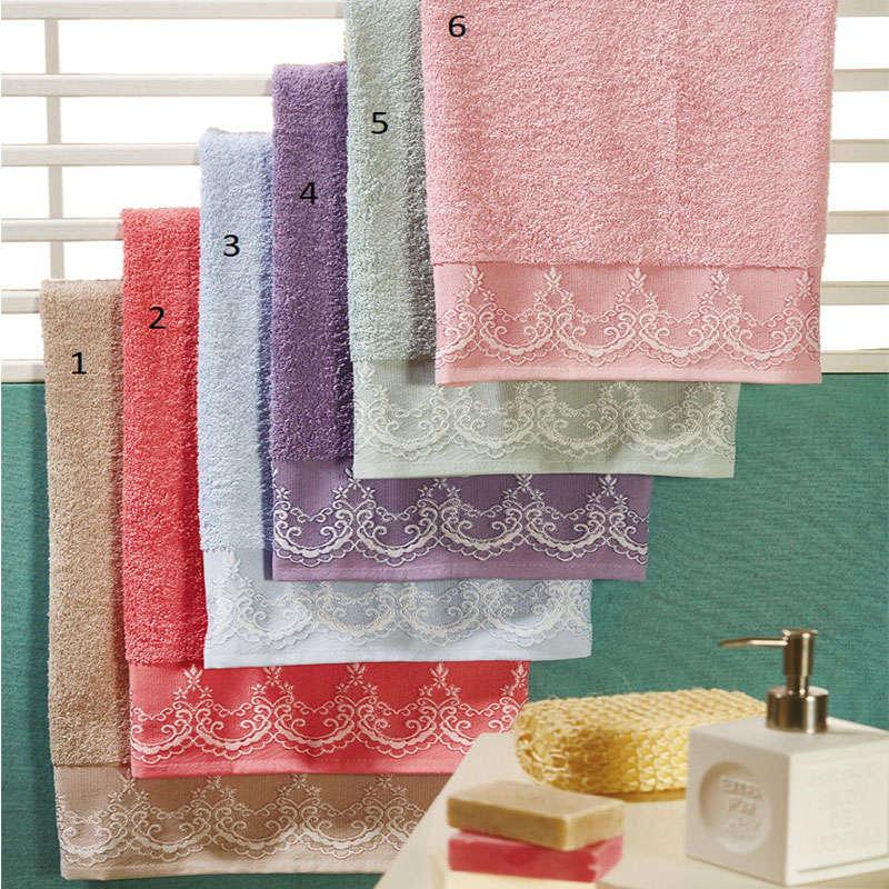 Πετσέτες Σετ 3Τμχ WE_T010_ΣΠ3Τ_No.6 Pink White Egg Σετ Πετσέτες 70x140cm