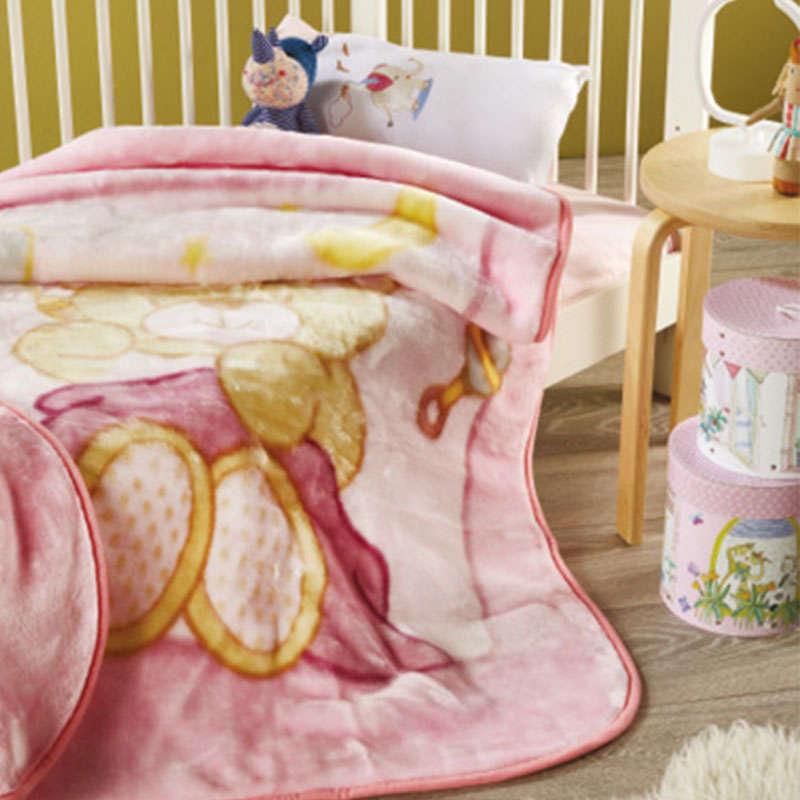 Κουβέρτα Βρεφική WE_KBB52_KBB_No.2 Pink White Egg Κούνιας 110x140cm