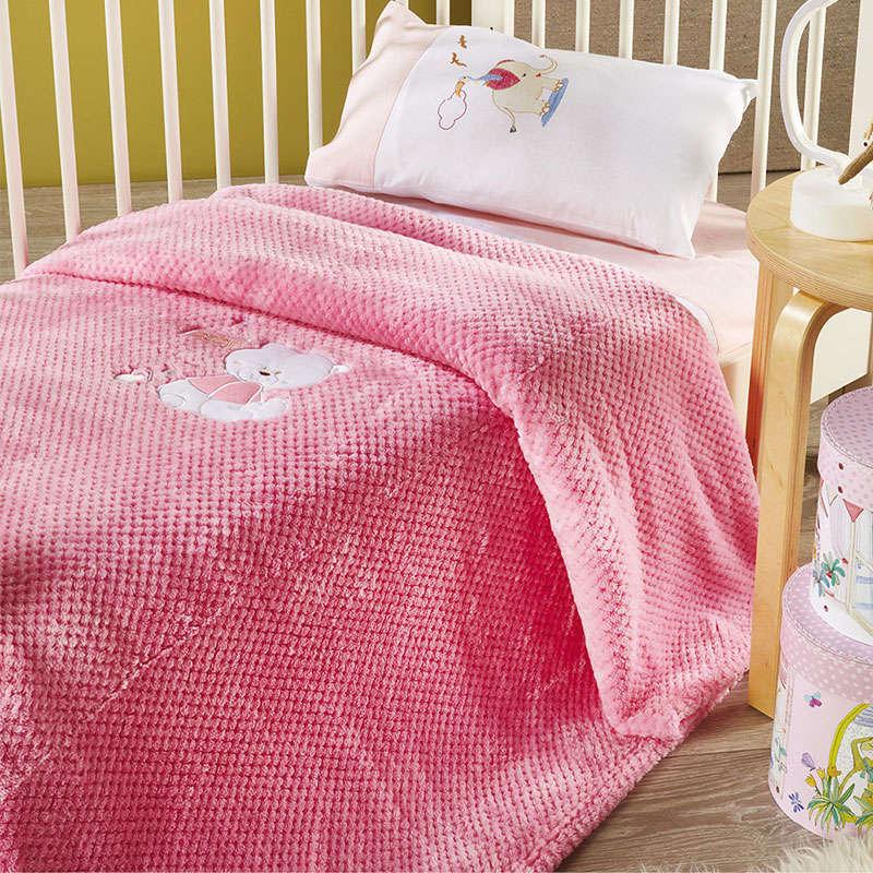 Κουβέρτα Βρεφική WE_KBB53_KBB_No.3 Pink White Egg Κούνιας 110x140cm