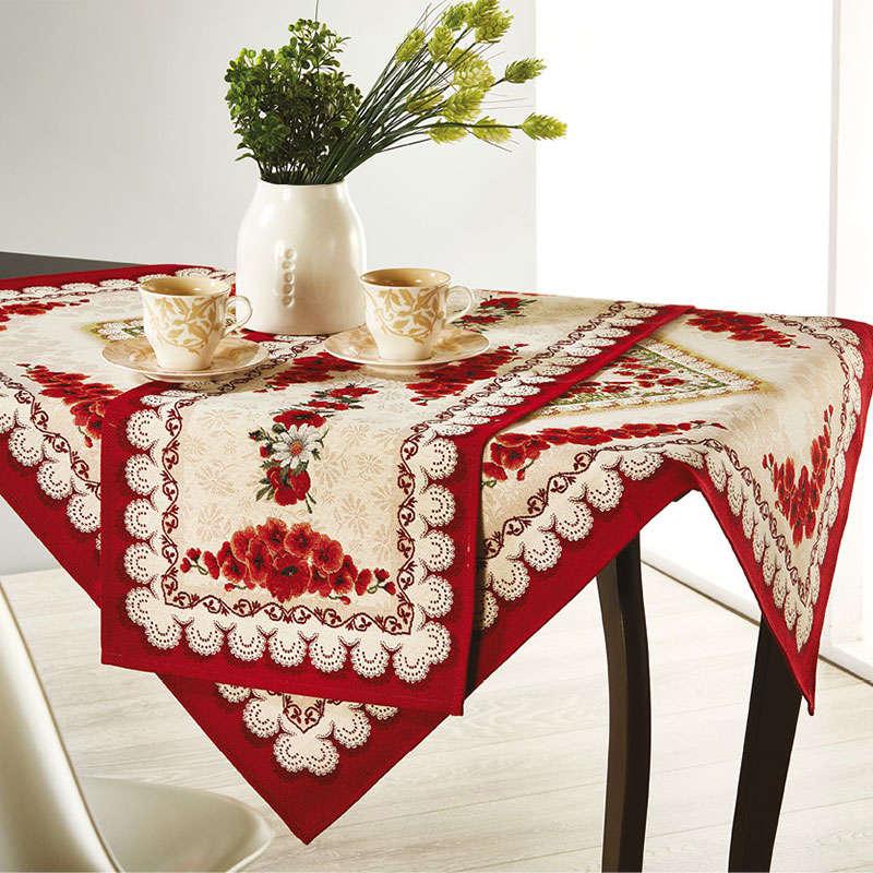 Τραβέρσα & Καρέ Σετ WE_Z045_ΣΚΤ White-Red White Egg 40Χ150