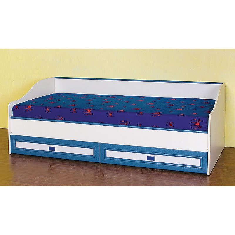 Κρεβάτι Twins 1 Mπέζ/Βανίλια-Μπλέ SO-TWINS1 193.5x86x65εκ. Στρώμα 80×190εκ. Μονό