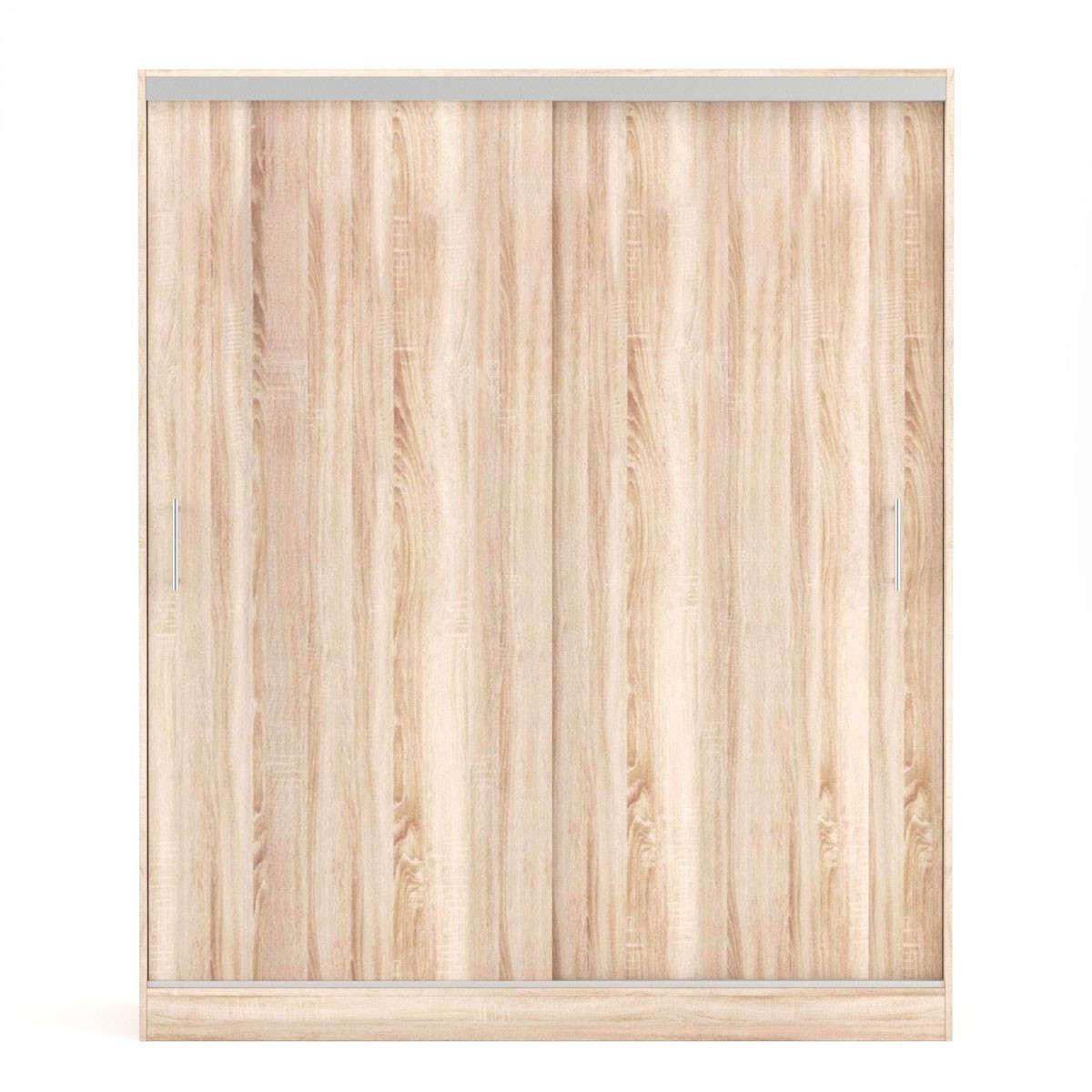 Ντουλάπα Δίφυλλη Συρόμενη Monalisa Sonoma FIL-000611 180x60x215εκ. Δίφυλλη