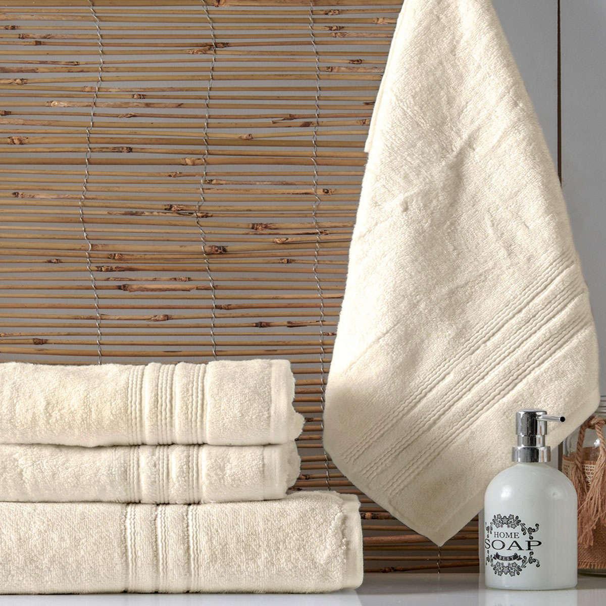 Πετσέτα Arial B12 Ecru Kentia Προσώπου 50x100cm