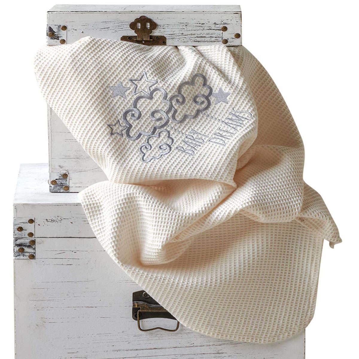 Βρεφική Κουβέρτα Baby Dream Ecru Kentia Κούνιας 100x140cm