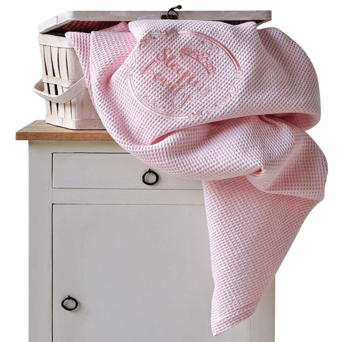 Βρεφική Κουβέρτα Beauty Pink Kentia Κούνιας 100x140cm