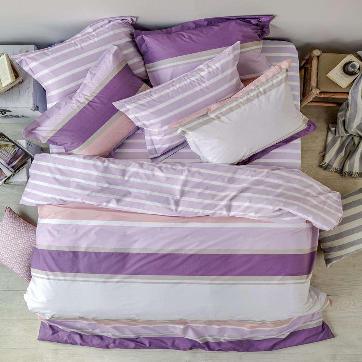 Παπλωματοθήκη Σετ Bosco 42 Purple 3 Τεμ. Kentia Υπέρδιπλo 220x240cm