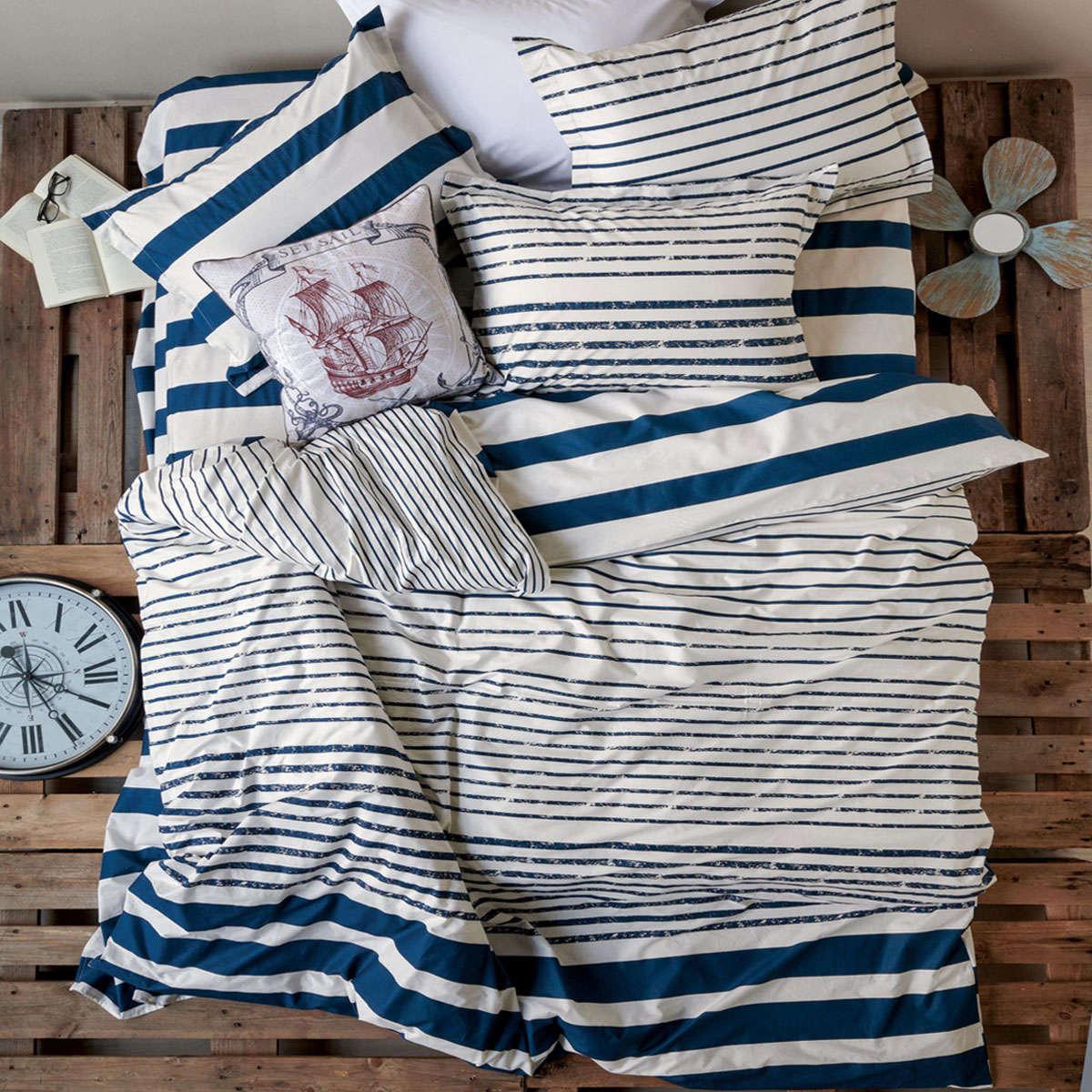 Σεντόνι Σετ Catamaran 01 Blue 4 Τεμ. Kentia Υπέρδιπλo 230x270cm
