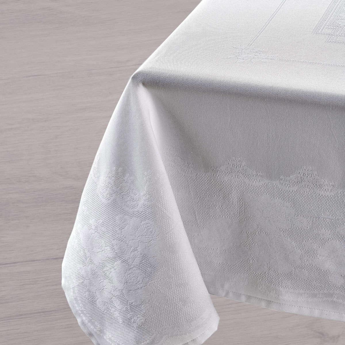 Τραπεζομάντηλο Fantine 00 White Kentia 150X250