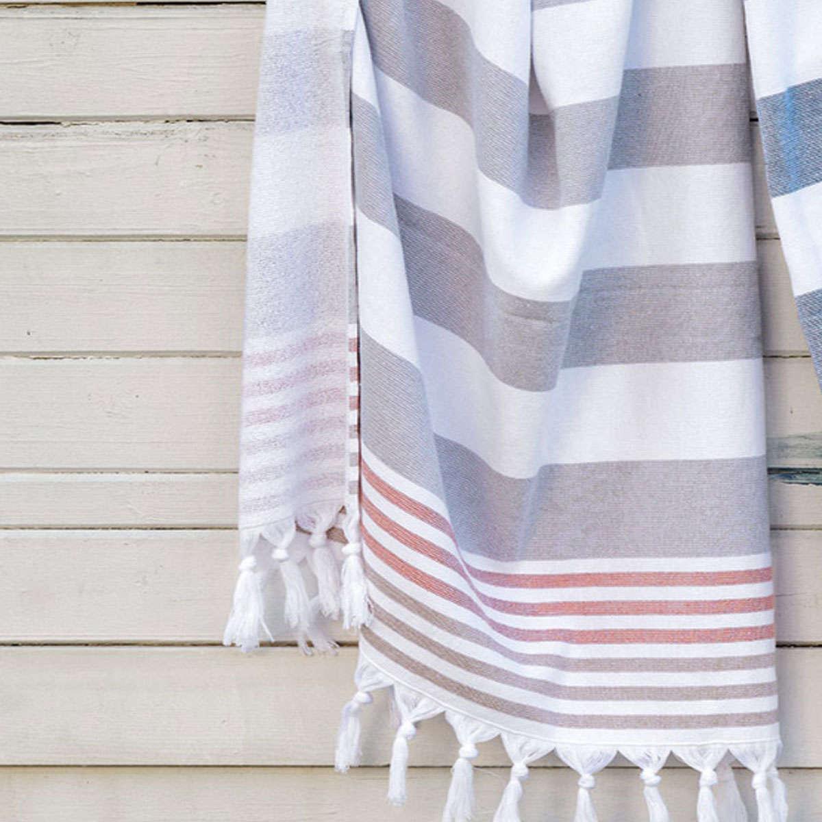 Πετσέτα Θαλάσσης – Παρεό Limnos 22 Grey Kentia Θαλάσσης 90x180cm