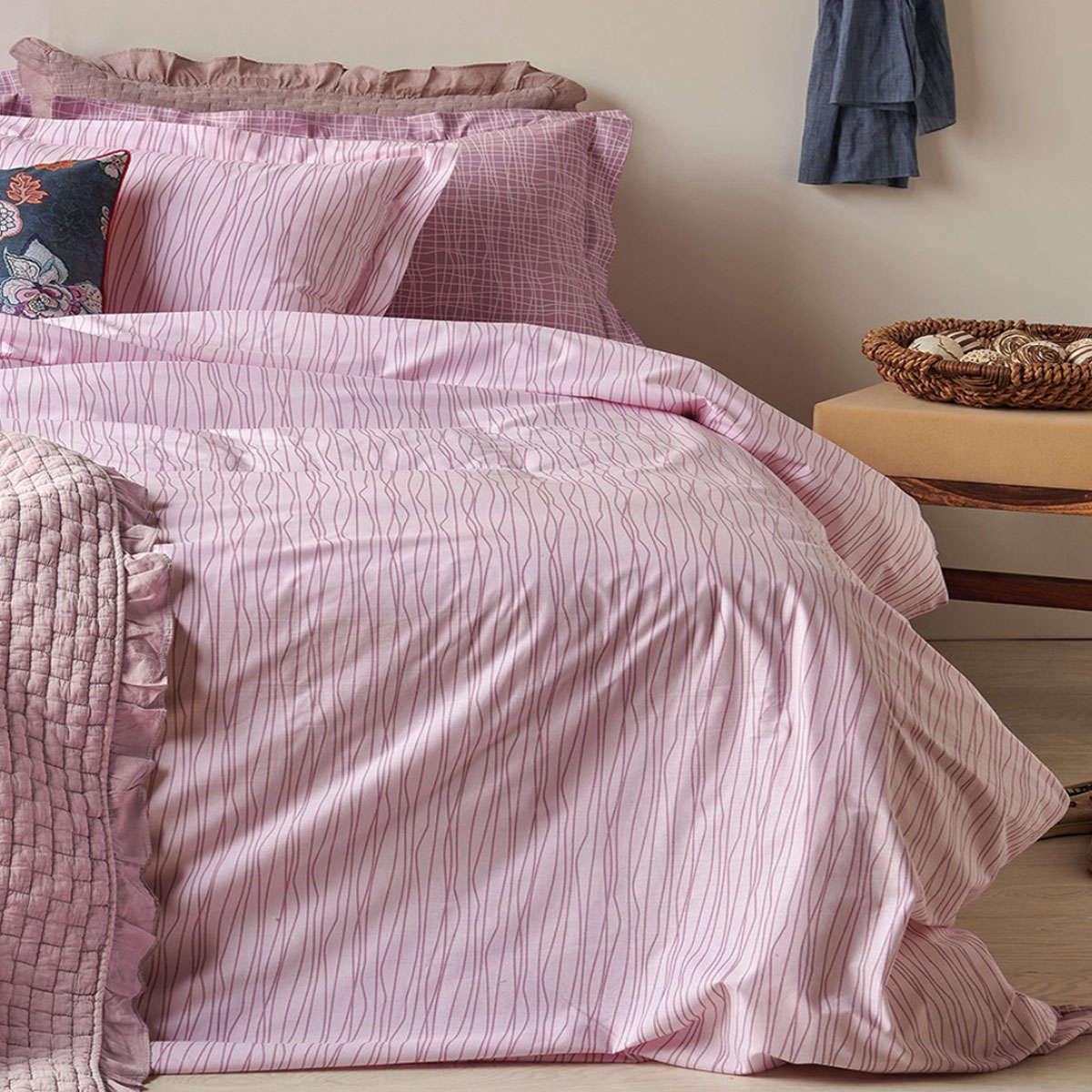 Σεντόνι Σετ Linari 42 Purple 4 Τεμ. Kentia Υπέρδιπλo 230x260cm
