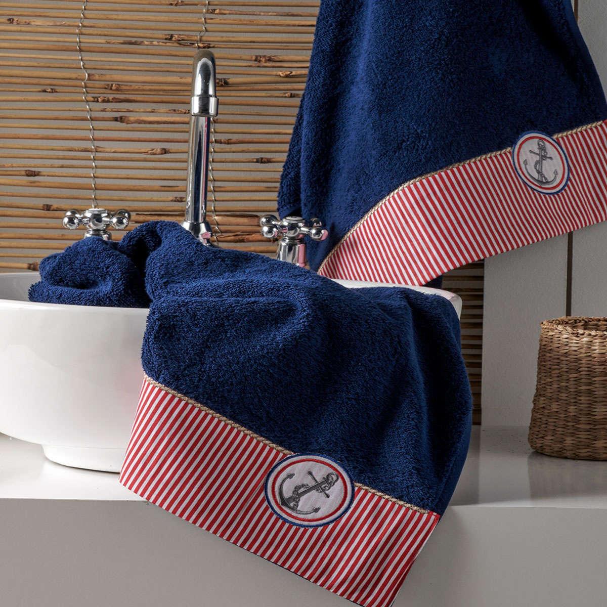 Πετσέτες Σετ Marina 01 Blue 3 Τεμ. Kentia Σετ Πετσέτες 70x140cm