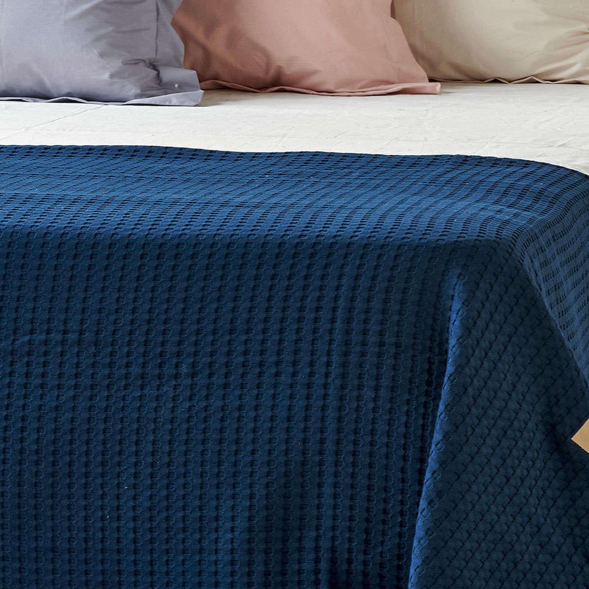 Κουβέρτα Mariner 01 Blue Kentia Διπλό 170x240cm