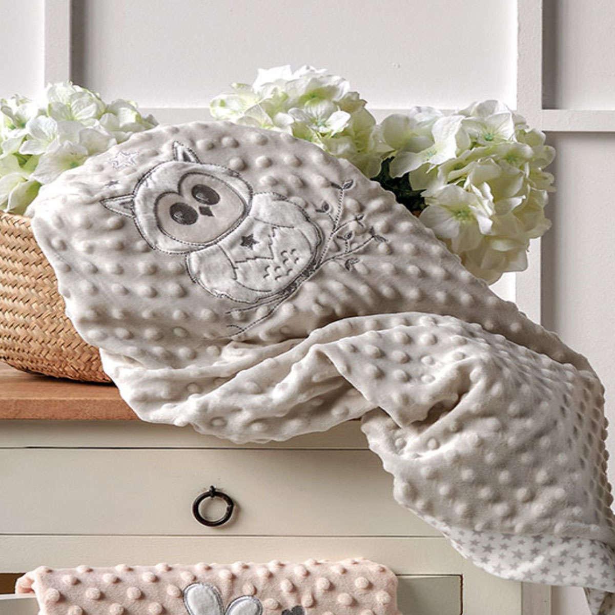 Βρεφική Κουβέρτα Moran 22 Grey Kentia Αγκαλιάς 75x100cm