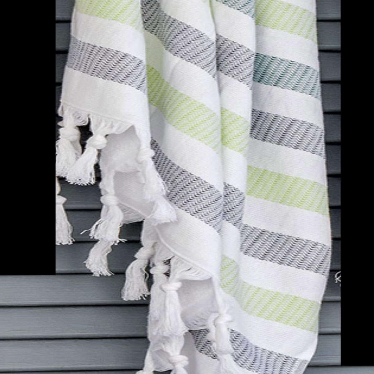Πετσέτα Θαλάσσης – Παρεό Myrtos 22 Grey-Green Kentia Θαλάσσης 90x180cm