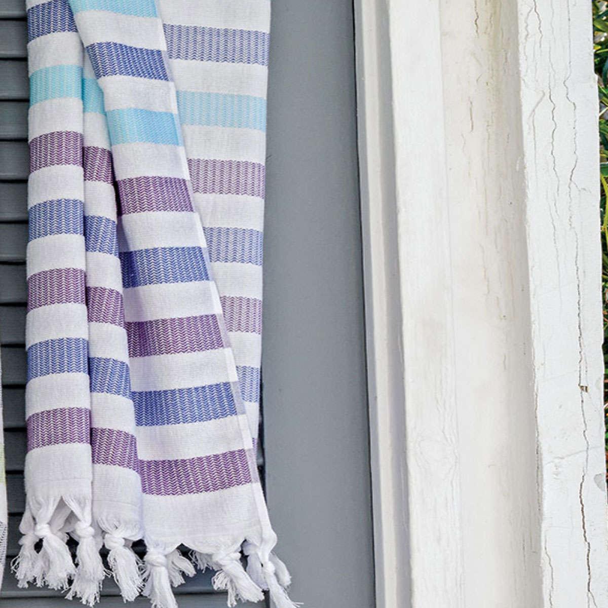 Πετσέτα Θαλάσσης – Παρεό Myrtos 35 Blue-Purple Kentia Θαλάσσης 90x180cm