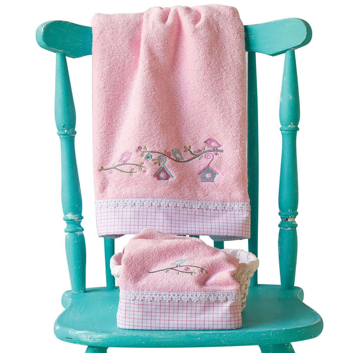 Βρεφικές Πετσέτες Σετ Nest Pink 2 Τεμ. Kentia Σετ Πετσέτες