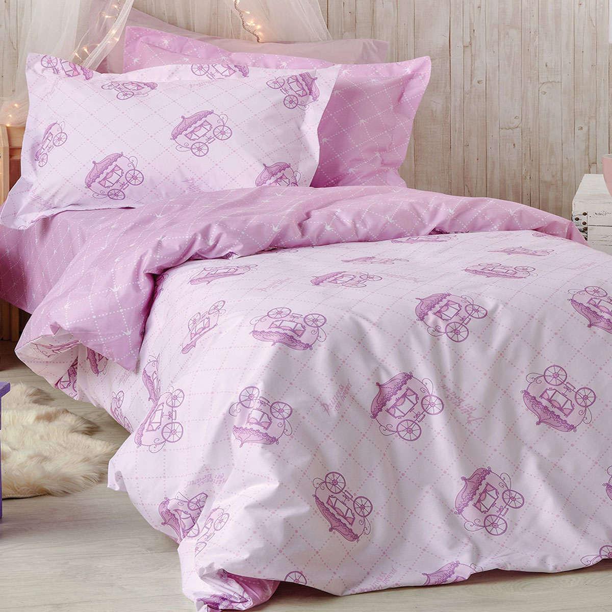 Παιδική Μαξιλαροθήκη Tiara Pink Kentia 50Χ70 50x70cm