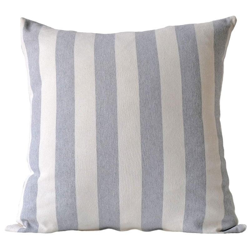 Διακοσμητική Μαξιλαροθήκη Sifnos 22 Grey-White Kentia 50X50 Βαμβάκι-Polyester